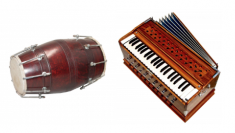 HARMONIUM DHOLAK AND KIRTAN TOOLS